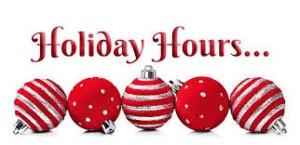 hoilday hours